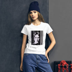 Women's short sleeve t-shirt - John Lennon by Vlado V - we wear art