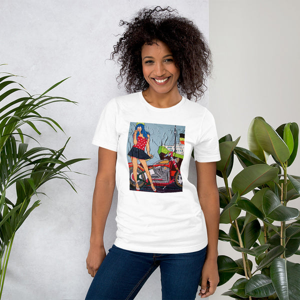 Short-Sleeve Unisex T-Shirt - Chopper Girl by Vlado V - we wear art