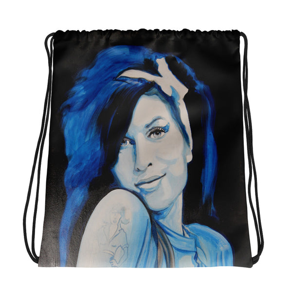 Drawstring bag - Amy Winehouse by Eric B - we wear art