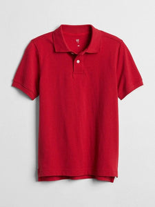 Boys Short Sleeve GAP Polo Shirt Modern Red - YLKGS-1006