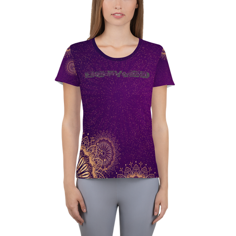Mandala Design | Frauen Athletik T-shirt | Bstyled Sportswear