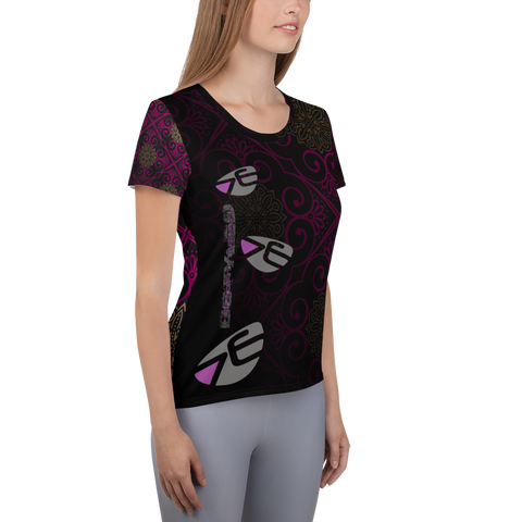 Frauen Athletik T-shirt | Mandala Design | Bstyled Sportswear