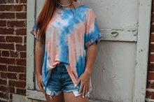 Load image into Gallery viewer, Hometown Girl Tie Dye Top