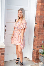Load image into Gallery viewer, Sami Ruffle Sleeve Peach Dress