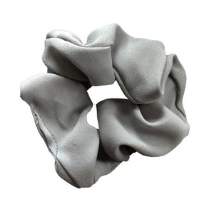 Grey Solid Scrunchie