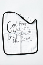 Load image into Gallery viewer, 4 Layer Org. Cttn Muslin Burp Cloth - Isaiah 49:16