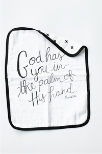 4 Layer Org. Cttn Muslin Burp Cloth - Isaiah 49:16