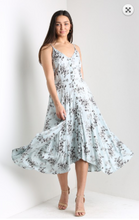 Load image into Gallery viewer, Robyn Blue Midi Dress