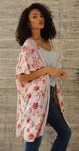 Load image into Gallery viewer, Hibiscus Floral Kimono