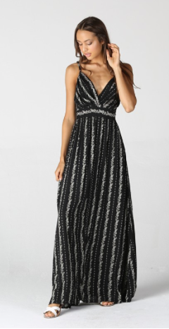 Midnight Garden Maxi Dress