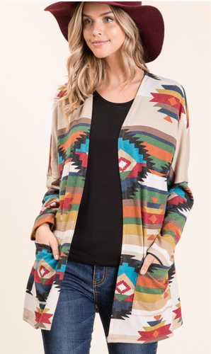 All On Me Aztec Cardigan