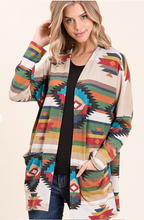 Load image into Gallery viewer, All On Me Aztec Cardigan