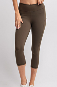 Olive Athletic Leggings (Curvy)