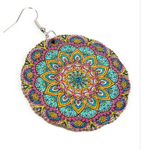 Load image into Gallery viewer, Mandala Wood Earrings