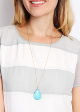 Load image into Gallery viewer, Turquoise Drop Necklace