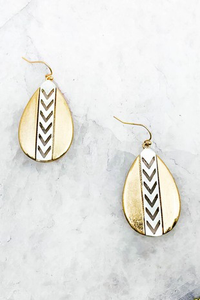 Chevron Teardrop Earrings