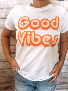 Good Vibes White Tee