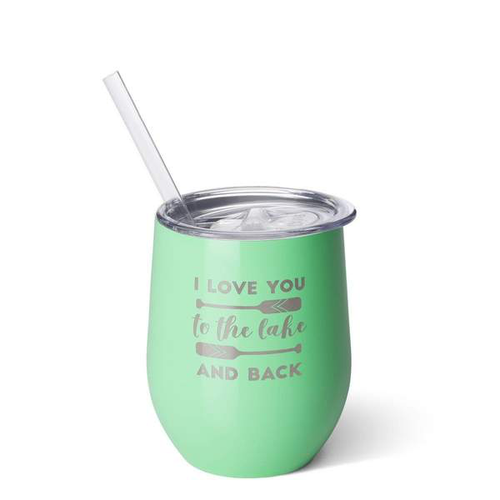 Stemless Wine Cup (12oz) - I Love You to the Lake and Back