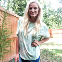 Load image into Gallery viewer, Lena Mint Tie Dye Top