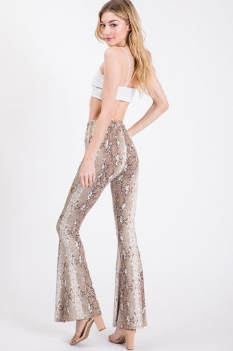 Snake Skin Bell Bottoms