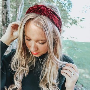 Maroon Hard Headband
