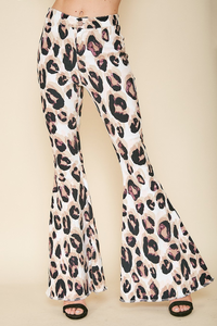 Sheera Leopard Bell Bottoms