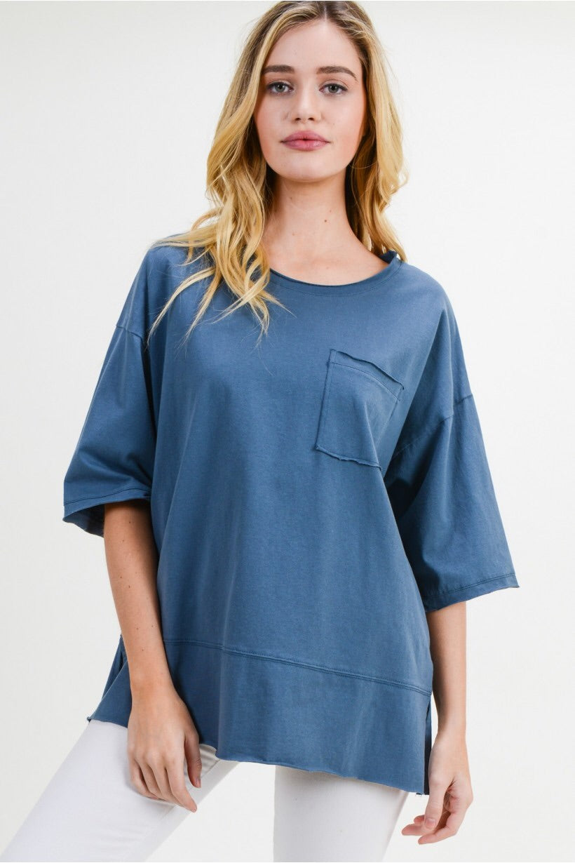 I'm Blue Tunic Top
