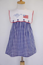 Load image into Gallery viewer, Sweet Land of Liberty Patriotic Embroidery Dress