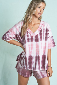 Plum Tie Dye Loungewear Set