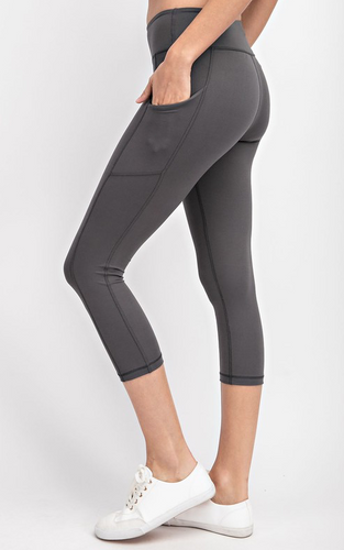 Charcoal Athletic Leggings (Curvy)
