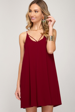 Load image into Gallery viewer, Cassidy Spaghetti Strap Gameday Dress