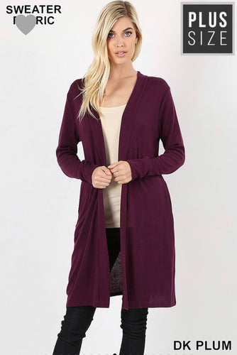 Plum Perfect Cardigan (Curvy)
