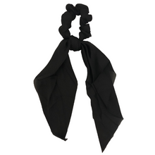 Load image into Gallery viewer, Solid Black Darling Scrunchie