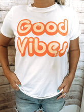 Load image into Gallery viewer, Good Vibes White Tee