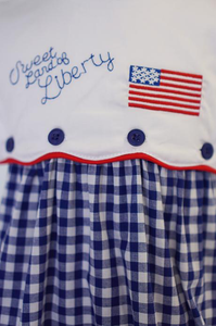 Sweet Land of Liberty Patriotic Embroidery Dress