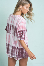 Load image into Gallery viewer, Plum Tie Dye Loungewear Set