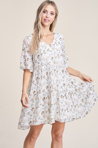 Courtney V Neck Ruffle Dress