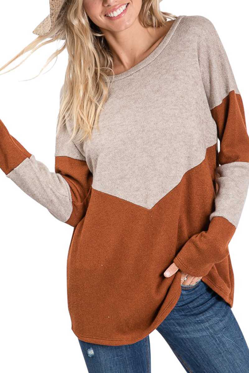 Rust and Ivory Sweater