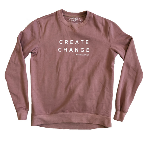 Create Change Sweatshirt Mauve