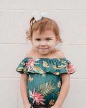 Load image into Gallery viewer, Isla Ruffle Romper - Everglade Green