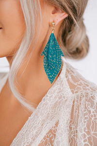 Sabrina Feather Earrings