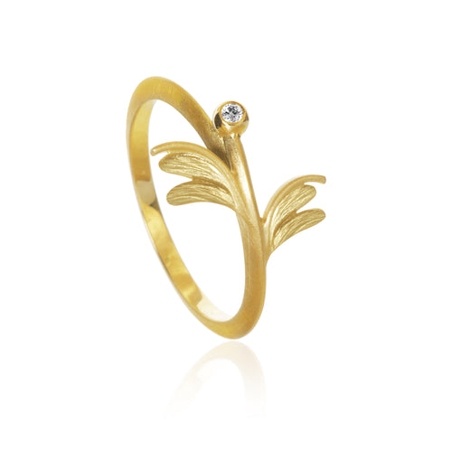 Aura ring Sway in gold mit Diamanten