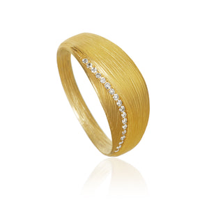 Aura ring. Lille med 18 brillanter. Guld 18K, Dulong Fine Jewelry.