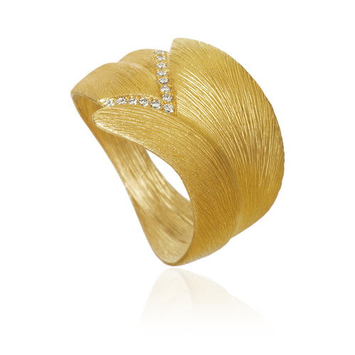 Aura ring. Stor med 13 brillanter. Guld 18K, Dulong Fine Jewelry