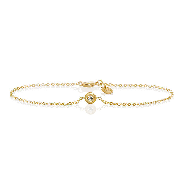 Glory Armband mit 1 brillant, Gold 18K | Dulong Fine Jewelry.