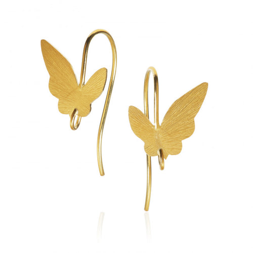 Butterfly Ohrringe mit Haken. Gold 18 K. Dulong Fine Jewelry
