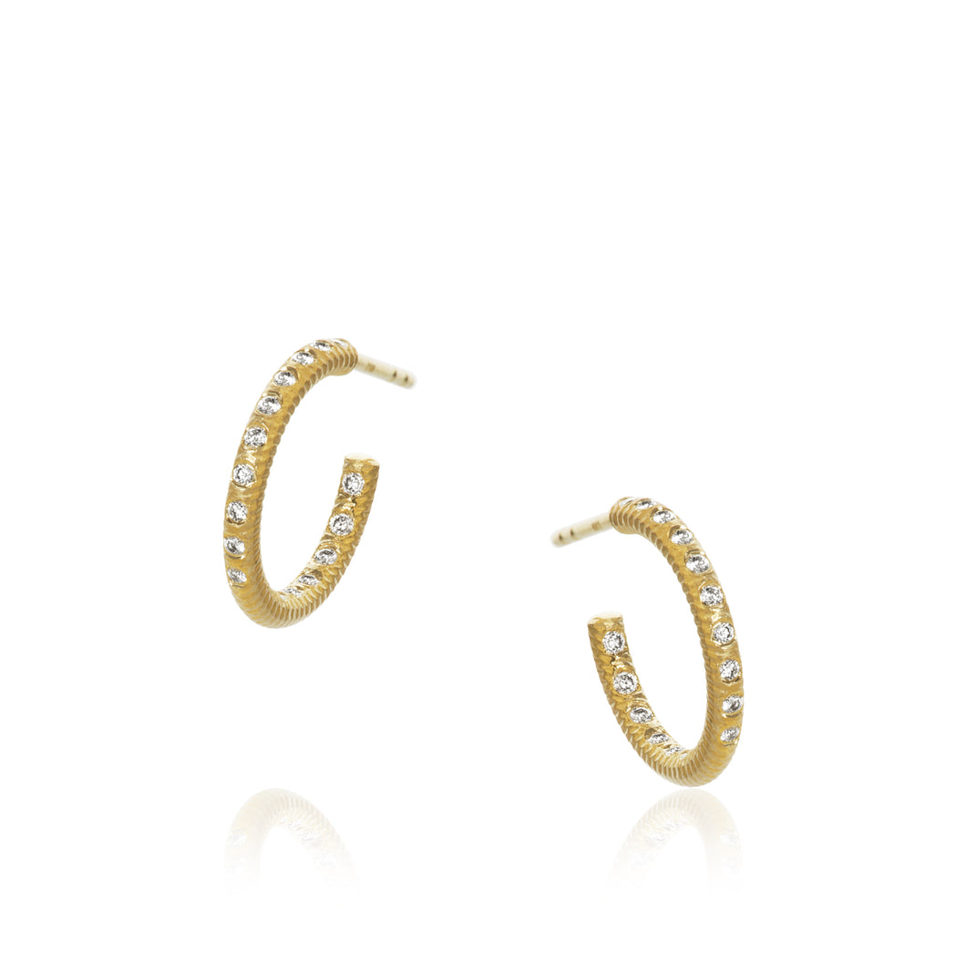 Esme Galaxy earrings. Small with 34 brilliant cut diamonds