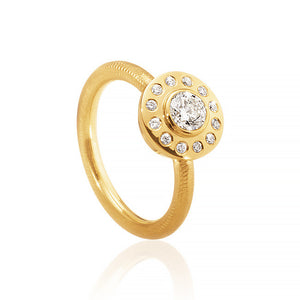 Diamantring. Harmony ring med 13 brillanter. Guld 18K. Dulong Fine Jewelry