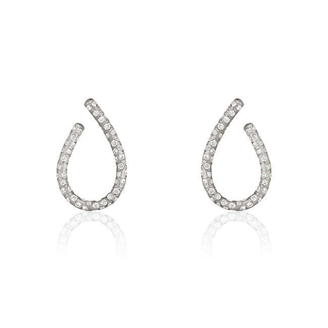 Kharisma Supernova earrings. Small with 210 brilliant cut diamonds