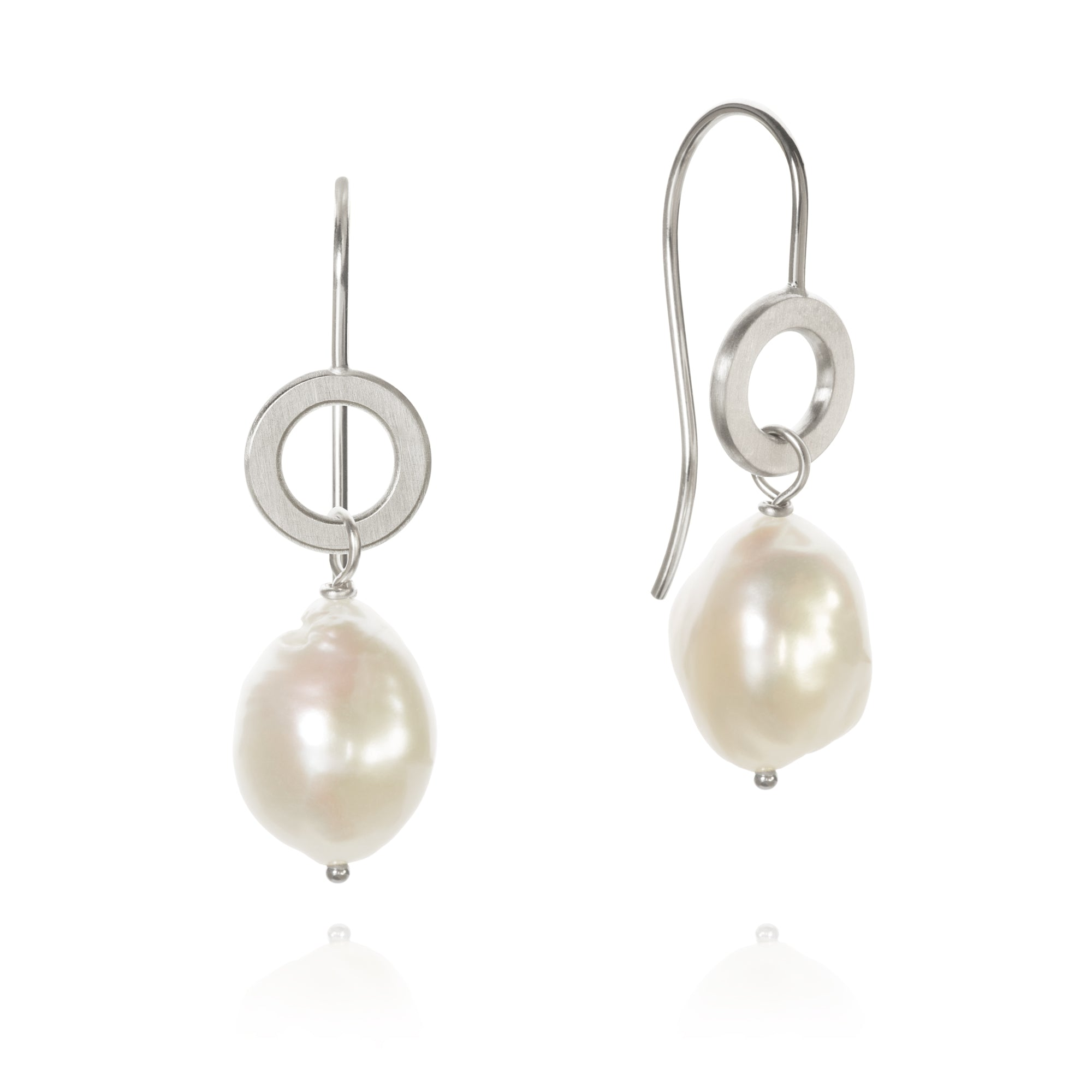 Ocean Pearl earrings with baroque freshwater pearls.